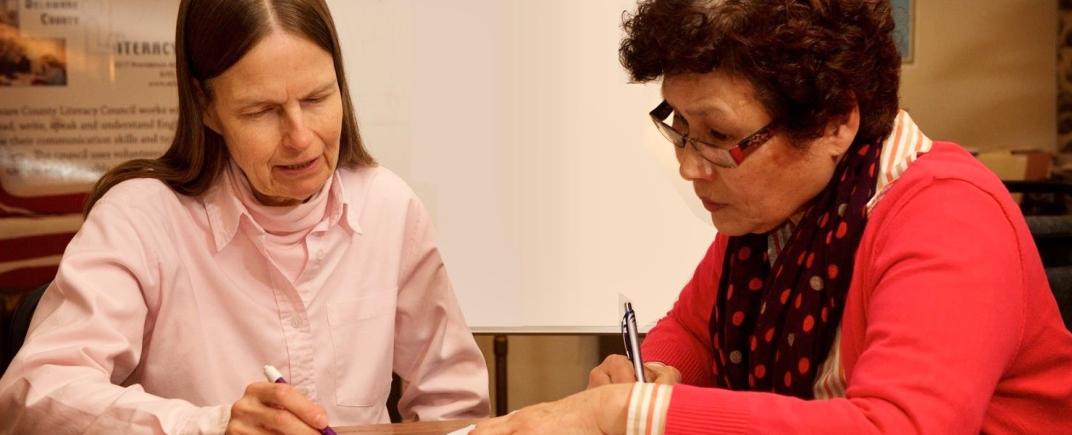 Volunteer Tutor with Adult Student