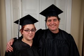 """FAMILY PRIDE """"After going 25 years with only a sixth-grade education, I came to the Literacy Council to fulfill one unaccomplished goal: to capture my high school equivalency diploma,"""" says Bill Killinger. Bill earned his GED and encouraged his daughter Danielle to do the same. A year after Bill reached his goal, Danielle reached hers. Appropriately enough, she cites her own children as motivation: """"I wanted to get my GED to get a better job and create a better life for my kids."""""""