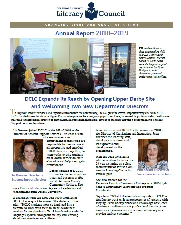 An image of page 1 of Annual Report 2018-2019