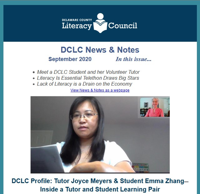 DCLC News & Notes Sept 2020 screen shot