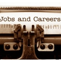 Jobs & Careers written on typewriter page