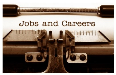 Jobs & Careers written on typewriter page