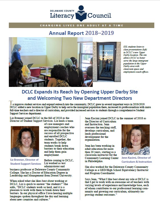 Image of Page 1 of Annual Report